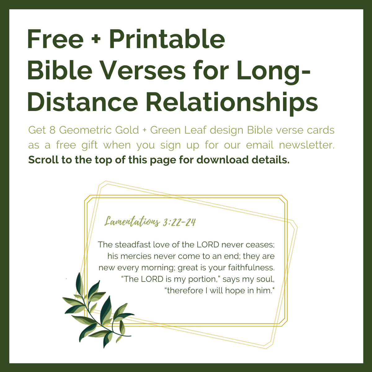 Bible verses for long-distance love relationships